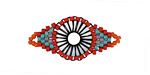 Flamenco Dancer Hand Woven Radiant Eye Focal 30x14mm