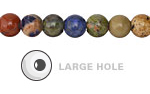 Multi Gemstone Round (Large Hole) 8mm