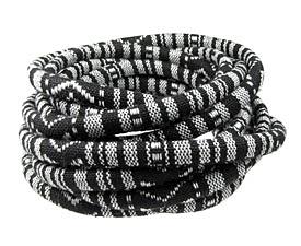 Black & White Round Woven Cotton Cord 6mm
