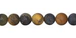 Golden Pietersite (matte) Round 8mm