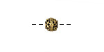 Greek Antique Gold (plated) Bali Style Round 5mm