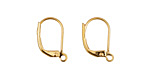 Gold (plated) Leverback Earring w/ Open Loop 10x15mm