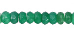 Green Onyx Faceted Rondelle 5-6x8-9mm