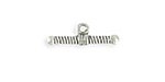 Vintaj Antique Sterling Silver (plated) Ribbed Toggle Bar 7x20mm