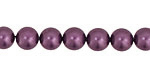 Eggplant Shell Pearl Round 8mm