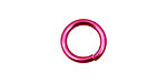 Pink Anodized Aluminum Jump Ring 14mm, 14 gauge (9.6mm inside diameter)
