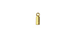 Gold (plated) Cylindrical 1.5mm Cord End 7mm