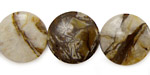 Brioche Agate Puff Coin 18mm