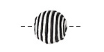 Black & White Thread Wrapped Bead 14mm