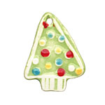 Jangles Ceramic Multi Green Textured Tree Pendant 32x40mm