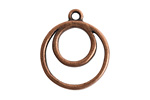 Nunn Design Antique Copper (plated) Open Concentric Circle Pendant 24x27mm