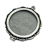 Nunn Design Antique Silver (plated) Large Scallop Locket 40mm