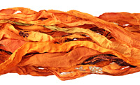 Saffron 100% Silk Sari Ribbon