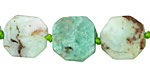 Chrysoprase Natural Cut Octagon Slice 13-16mm