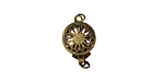 Antique Brass (plated) Filigree Box Clasp 17x10mm