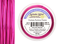 Artistic Wire Silver Plated Fuchsia 18 gauge, 20 feet