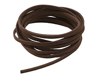 Dark Brown Microsuede Flat Cord 3mm