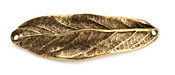 Nunn Design Antique Gold (plated) Large Leaf Bracelet Link 50x16mm