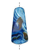 Cobalt Agate Twisted Ladder Pendant 48-52x18-20mm