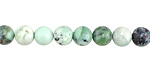 Grass Green Turquoise (light) Round 6-7mm