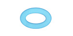 Pacific Blue Recycled Glass Oval Ring 22x16mm