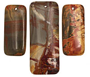 Red Creek Jasper Rectangle Pendant Set 20x50mm, 15x35mm