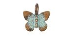 Vintaj Vogue Natural Brass Butterfly Charm 19x15mm