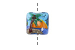 Grace Lampwork Palm Tree Sunset Pillow 15mm