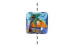Grace Lampwork Palm Tree Sunset Pillow 15mm