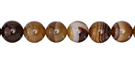Brown Line Agate Round 8mm
