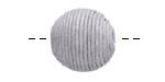 Dove Gray Thread Wrapped Bead 18mm