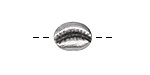 Greek Pewter Small Cowrie Shell Charm 7x12mm
