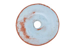 Greek Pueblo Ceramic Arctic Blue Donut 7x30mm