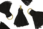 Jet w/ Jump Ring Thread Tassel 20mm