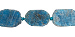 Pacific Blue Apatite (matte) Nugget Slice 14-18x10-14mm