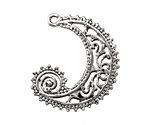 Zola Elements Antique Silver (plated) Ornate Filigree Swirl Focal 32x34mm