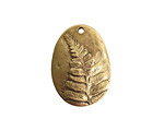 Nunn Design Antique Gold (plated) Large Fern Charm 22.5x31mm