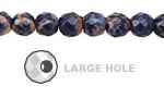 Orange Sodalite Faceted Round (Large Hole) 8mm