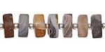 Botswana Agate Matte Wheel 5-7x10-13mm