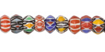 Nepalese Cane Glass Festival Rondelle Beads 5-7x9-12mm