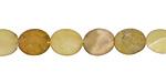 Yellow Opal (matte) Puff Oval 8x10mm
