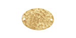Brass Hammertone Flat Oval Link 22x15mm
