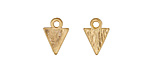Zola Elements Matte Gold (plated) Small Triangle Charm 9x12mm