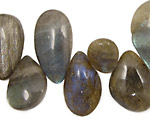 Labradorite Flat Freeform Drop 12-19x15-30mm
