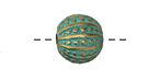 Zola Elements Patina Green Brass Sea Urchin Round 13mm