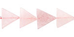 Rose Quartz Triangle 11-12x13mm