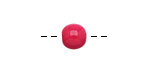 Tagua Nut Hot Pink Round 9mm