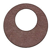 Lillypilly Burgundy Leather Large Open Round 50mm