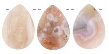 Natural Pink Agate (light) Teardrop Pendant 25-26x35mm