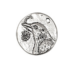 Green Girl Pewter Bird Hope Pendant 28mm